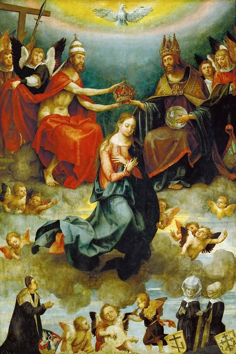 Hans von Kulmbach (c. 1485-1522) -- Coronation of the Virgin. Kunsthistorisches Museum
