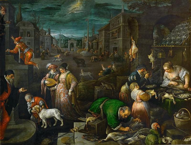 Leandro Bassano (1557-1622) -- February. Kunsthistorisches Museum