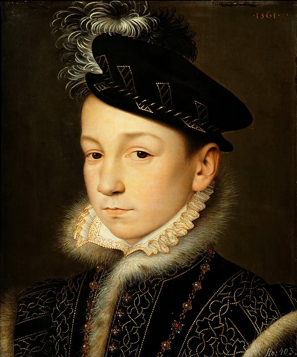 François Clouet -- Charles IX of France. Kunsthistorisches Museum