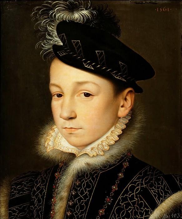 Франсуа Клуэ - Портрет короля Франции Карла IX. Музей истории искусств