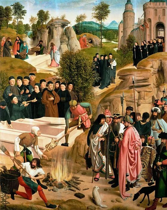 Гертген тот синт Янс - Алтарь св Иоанна, правая створка, реверс - судьба останков Иоанна Крестителя. Музей истории искусств
