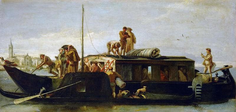 Giovanni Domenico Tiepolo -- Venetian Mailbarge. Kunsthistorisches Museum