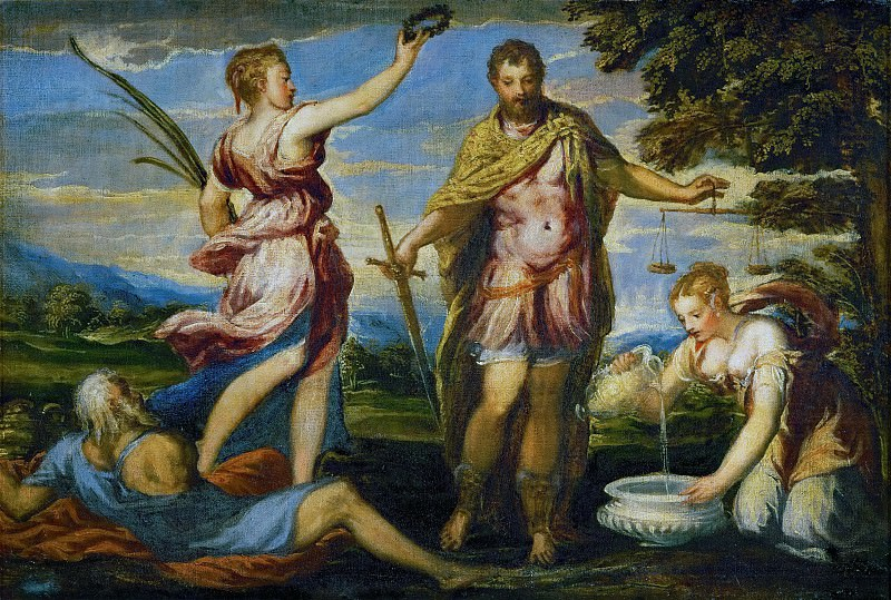 Andrea Schiavone (c. 1500-1563) -- Scipio Africanus (?). Kunsthistorisches Museum