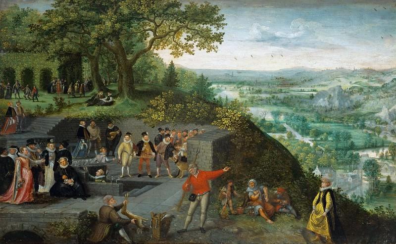 Lucas van Valckenborch -- Emperor Rudolf II taking a drinking cure. Kunsthistorisches Museum