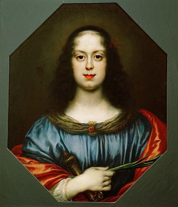 Carlo Dolci -- Vittoria delle Rovere as Saint Catherine. Kunsthistorisches Museum