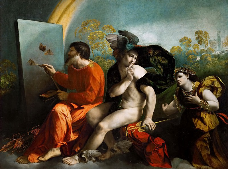 Dosso Dossi -- Jupiter, Mercury and Virtus or Virgo. Kunsthistorisches Museum