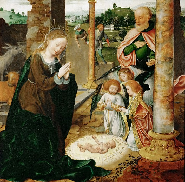 Joos van Cleve -- The Birth of Christ. Kunsthistorisches Museum