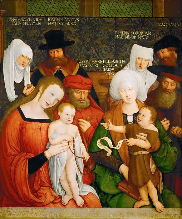 Bernhard Strigel -- The Holy Kinship. Kunsthistorisches Museum