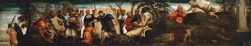 Jacopo Tintoretto -- The Prediction to David. Kunsthistorisches Museum
