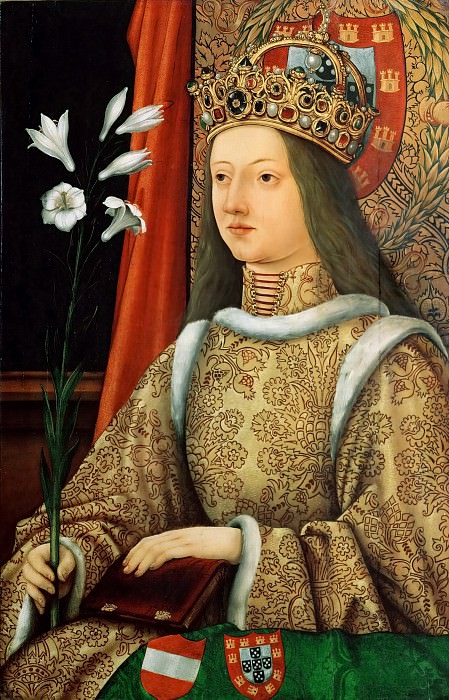 Hans Burgkmair the Elder (1473-1531) -- Eleanor of Portugal. Kunsthistorisches Museum
