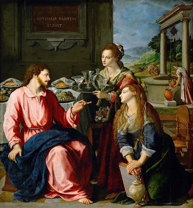 Алессандро Аллори - Христос в доме Марии и Марфы. Музей истории искусств