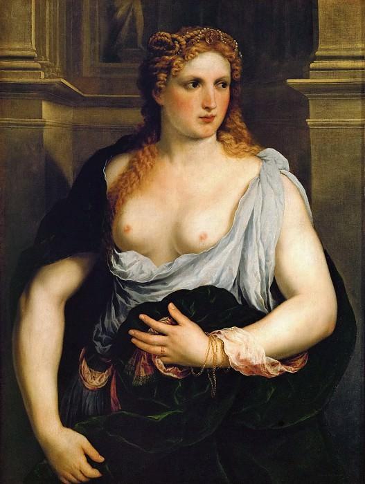 Парис Бордоне - Женщина с зеленой накидкой. Музей истории искусств