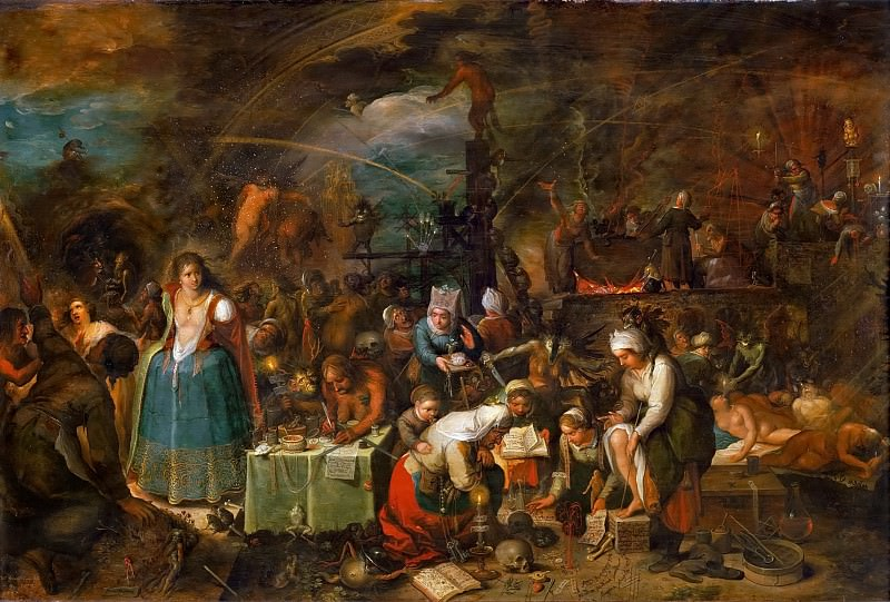 Frans Francken II -- Witches Assembly. Kunsthistorisches Museum
