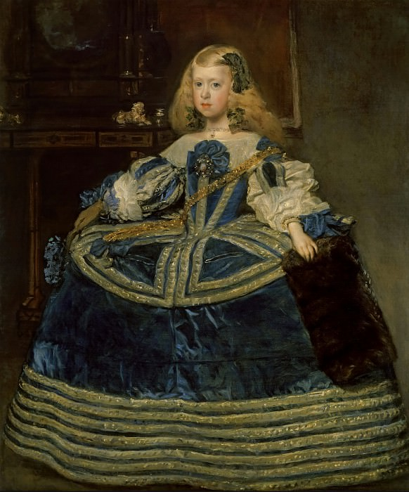 Diego Velázquez -- The Infanta Margarita Teresa in a Blue Dress. Kunsthistorisches Museum