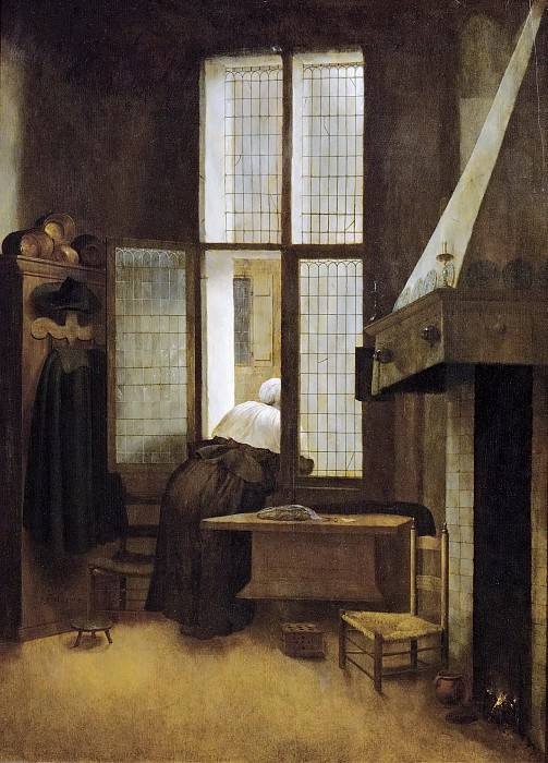 Jacobus Vrel -- Woman in a Window. Kunsthistorisches Museum