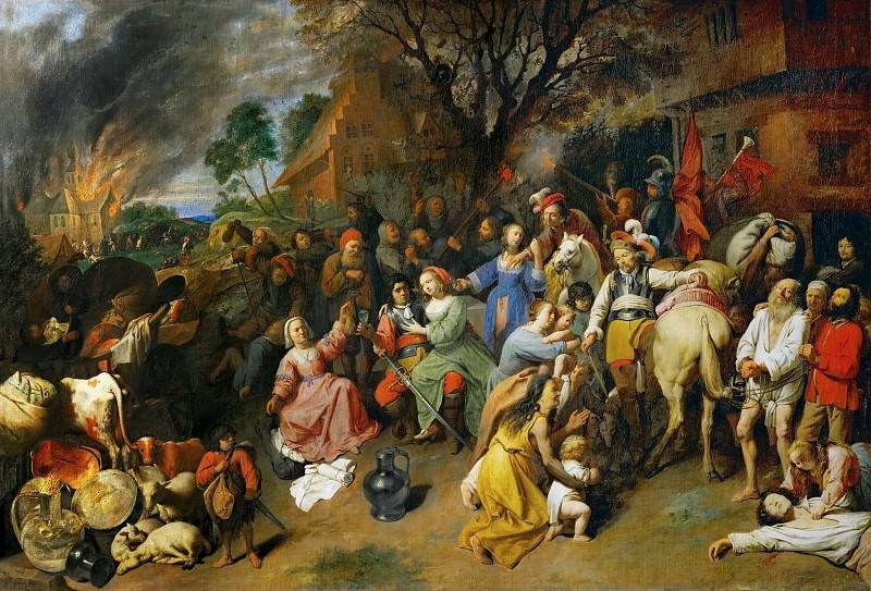 Давид Рейкарт III - Ограбление деревни. Музей истории искусств