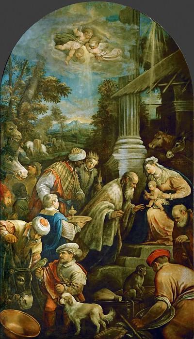 Francesco Bassano II (1549-1592) -- Adoration of the Magi. Kunsthistorisches Museum