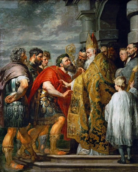 Saint Ambrosius and Emperor Theodosius. Peter Paul Rubens