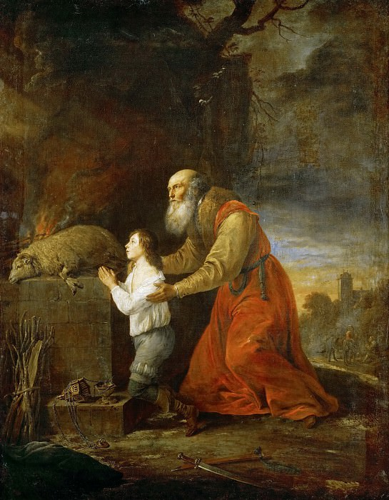 David Teniers II -- Abraham's Prayer of Thanks. Kunsthistorisches Museum