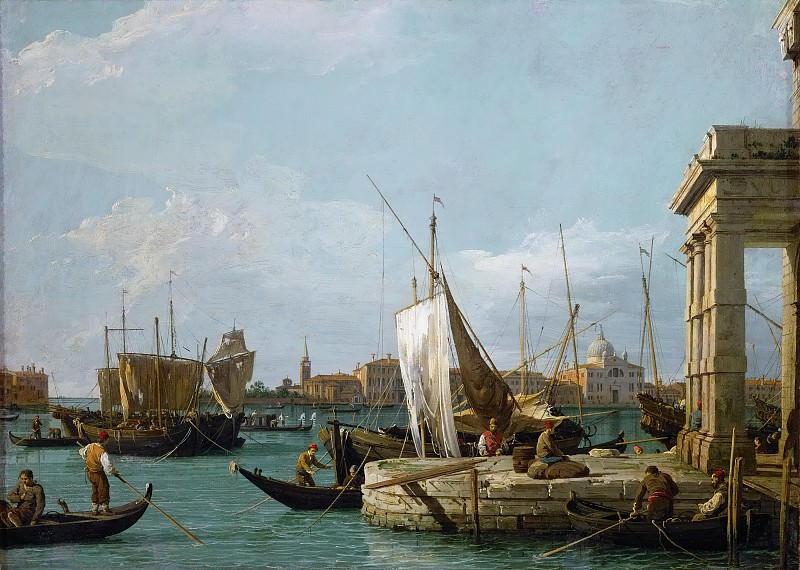 Canaletto (1697-1768) -- The Dogana in Venice. Kunsthistorisches Museum