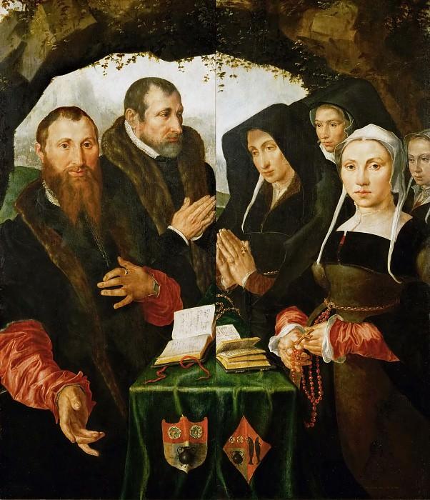 Maerten van Heemskerck (1498-1574) -- Two Altar Panels with Donors. Kunsthistorisches Museum