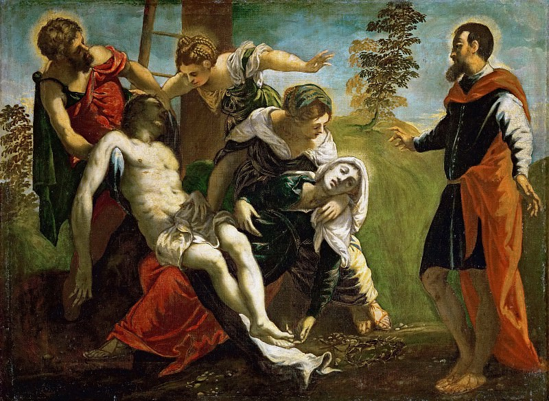 Jacopo Tintoretto and workshop -- Descent from the Cross with Saint Mary and Mary of Magdala. Kunsthistorisches Museum