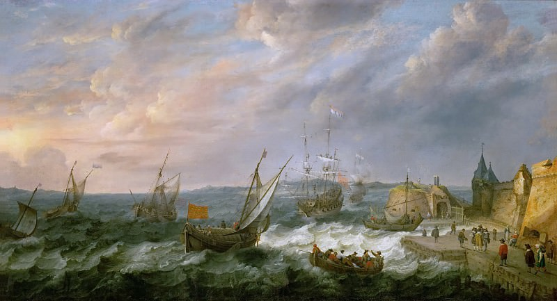 Adam Willaerts -- Seaport. Kunsthistorisches Museum
