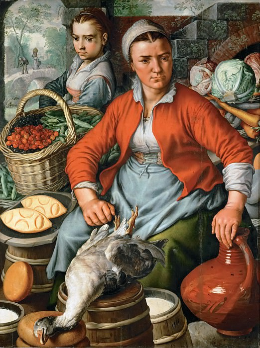 Joachim Beuckelaer (c. 1533-1574) -- Farm Woman at the Market. Kunsthistorisches Museum
