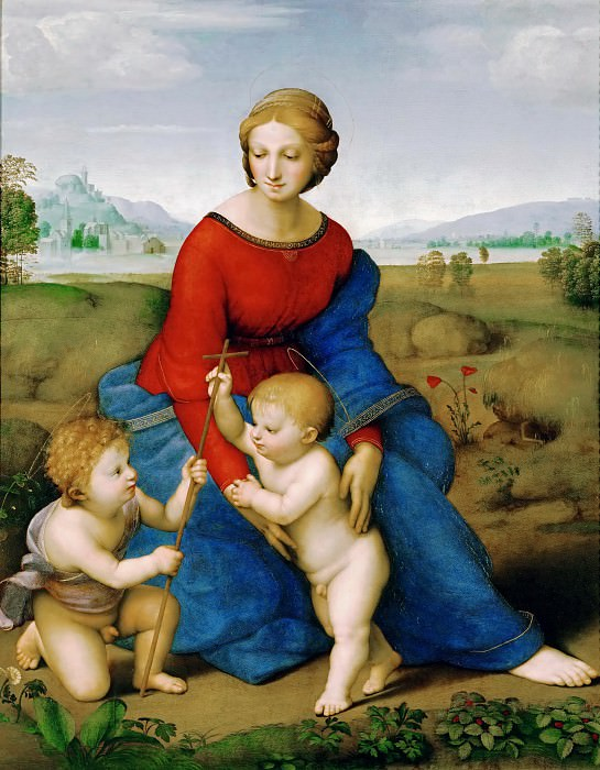 Raphael -- Madonna of the Meadow. Kunsthistorisches Museum