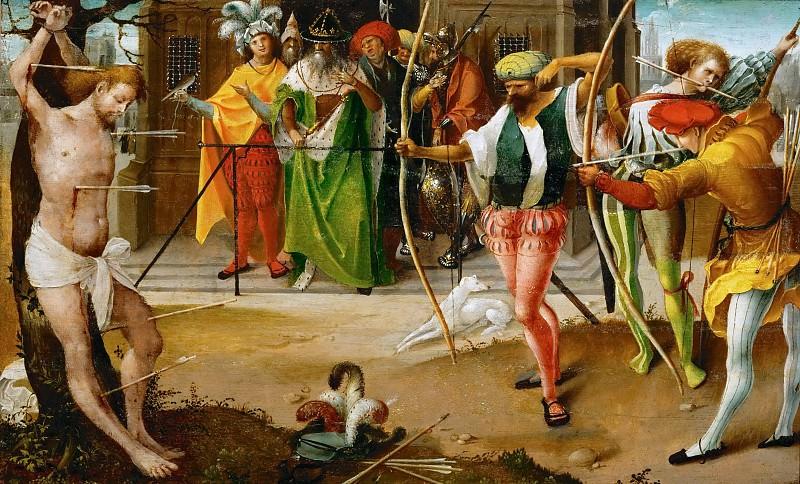Jan de Beer (c. 1475-before 1536) -- Martyrdom of Saint Sebastian. Kunsthistorisches Museum