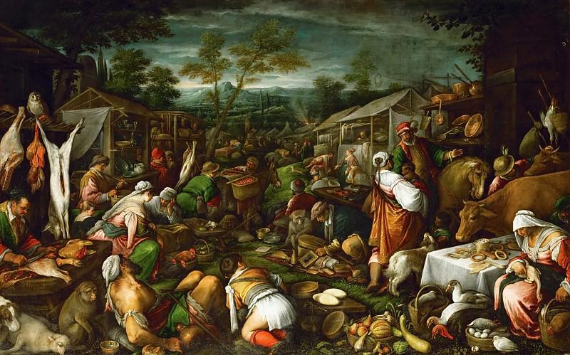 Francesco Bassano II (1549-1592) -- Market Scene. Kunsthistorisches Museum