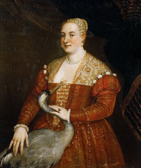 Paolo Veronese -- Portrait of a Lady with a Heron. Kunsthistorisches Museum