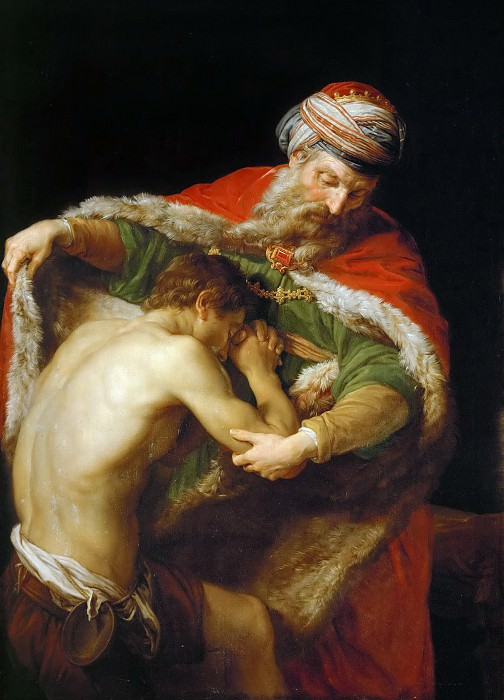 Pompeo Batoni (1708-1787) -- Return of the Prodigal Son. Kunsthistorisches Museum