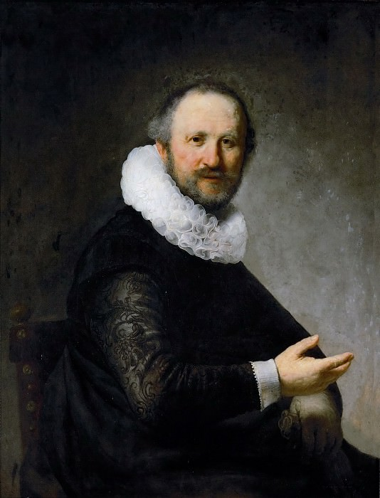 Rembrandt van Rijn -- Portrait of a Seated Man. Kunsthistorisches Museum