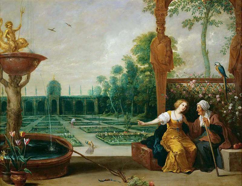 David Teniers I -- Vertumnus and Pomona. Kunsthistorisches Museum