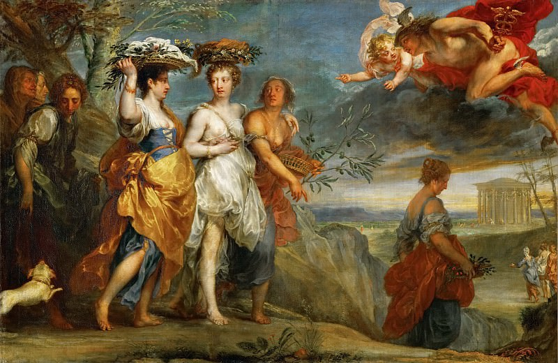 Jan Boeckhorst (1605-1668) -- Mercury Falling in Love with Herse, Daughter of King Kekrops. Kunsthistorisches Museum