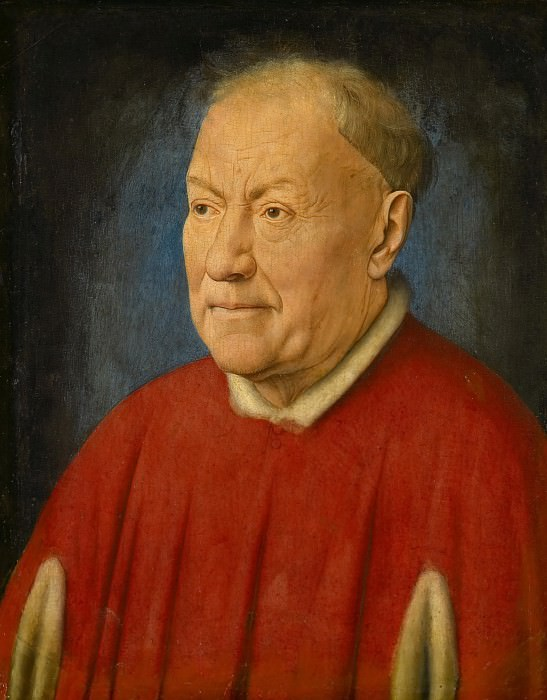 Jan van Eyck -- Cardinal Niccolo Albergati, Papal Envoy in the Spanish Netherlands. Kunsthistorisches Museum