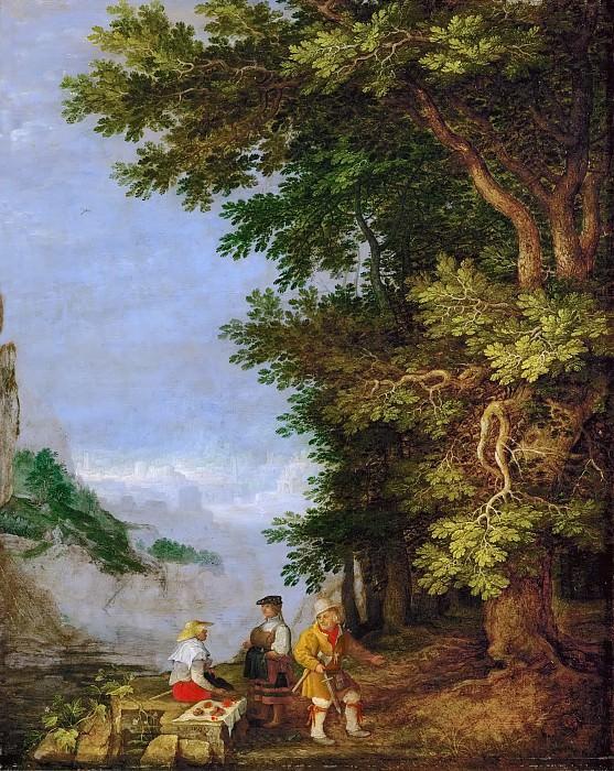 Рулант Саверей - Горный пейзаж с продавщицей фруктов. Музей истории искусств