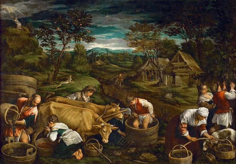 Франческо Бассано - Осень (Моисей получает скрижали завета). Музей истории искусств