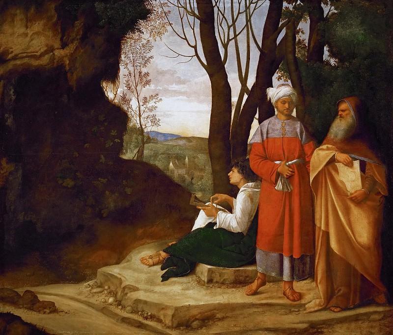 Giorgione -- Three Philosophers. Kunsthistorisches Museum