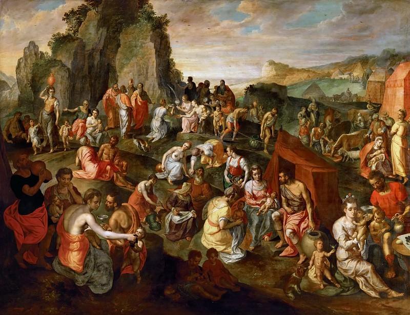 Мазервелл, Роберт - Моисей высекает воду из скалы. Музей истории искусств