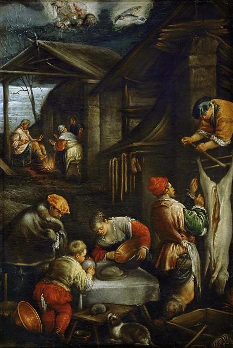 Francesco Bassano II (1549-1592) -- Winter (Slaughtering Pigs). Kunsthistorisches Museum