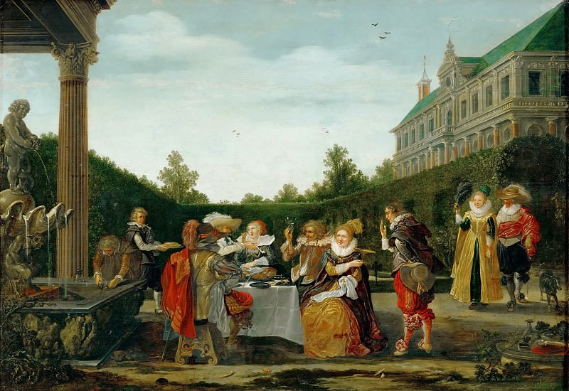 Esaias van de Velde I -- Party in a Castle Garden. Kunsthistorisches Museum