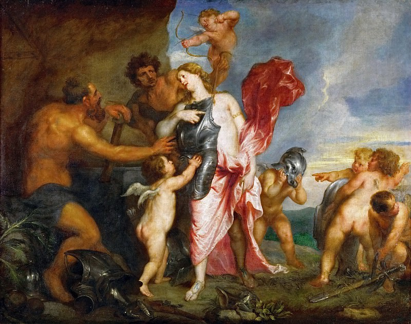Anthony van Dyck -- Thetis Receives the Arms and Armor for Achilles from Hephaestus (Venus at the Forge of Vulcan). Kunsthistorisches Museum