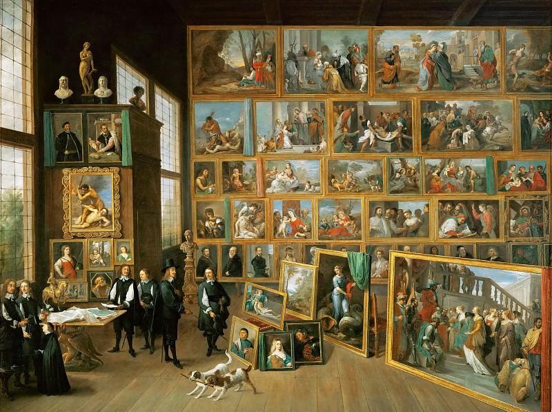 Давид Тенирс II - Эрцгерцог Леопольд Вильгельм в галерее искусств в Брюсселе. Музей истории искусств