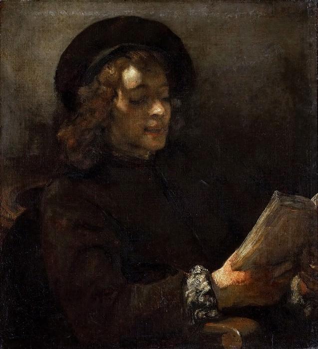 Портрет Титуса, читающего книгу. Рембрандт Харменс ван Рейн