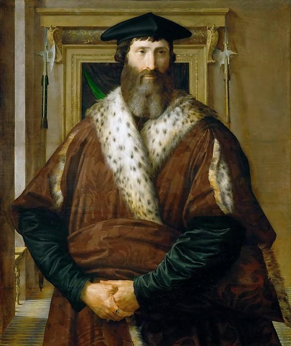 Parmigianino -- Portrait of a Dignitary (Condottiere Malatesta Baglione?). Kunsthistorisches Museum