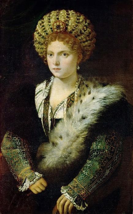 Titian -- Isabella d'Este. Kunsthistorisches Museum