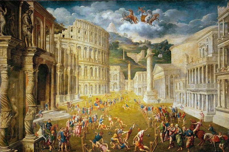 Paris Bordone (1500-1571) -- Fighting Gladiators. Kunsthistorisches Museum