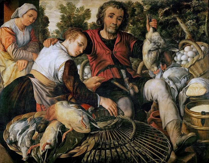 Иоахим Бейкелар - Крестьяне на рынке. Музей истории искусств